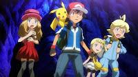 Ash y sus amigos en la cueva de cristal