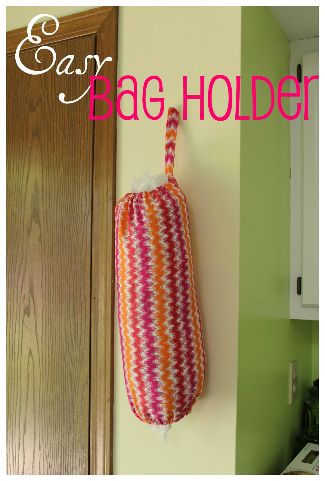 Hems and haws grocery bag holder