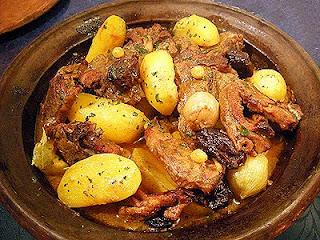 Tajine à l'agneau et pommes de terre