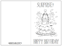 These Printable Cards Are Great For Kids Just Click On The Image Right To Save And Print Out Have Them Color Decorate Card