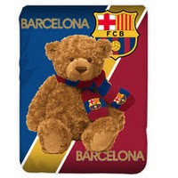 Jual Selimut Kendra Soft Panel Blanket Barcelona Bear