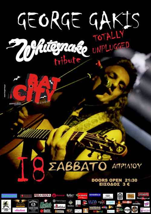 George Gakis - TOTALLY UNPLUGGED TRIBUTE TO WHITESNAKE