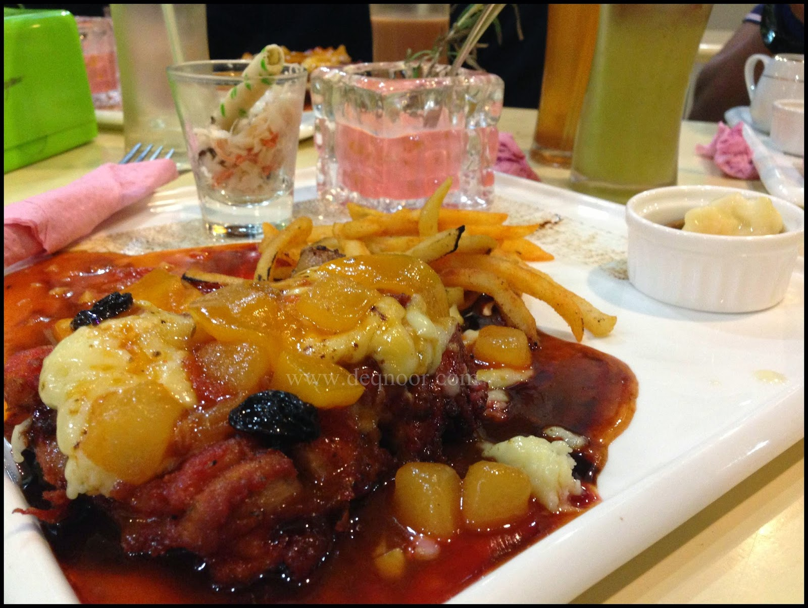 Sweet Strawberry Chocolate Cheese Chicken Chop with Ratatouille Sauce RM25.00