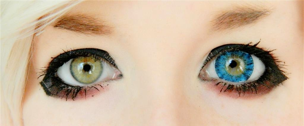 I.Fairy Super Crystal Blue colored contacts