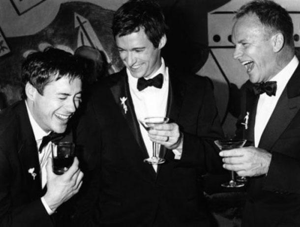 Fotografias a preto e branco de celebridades - Robert Downey Jr., Hugh Jackman e Sting