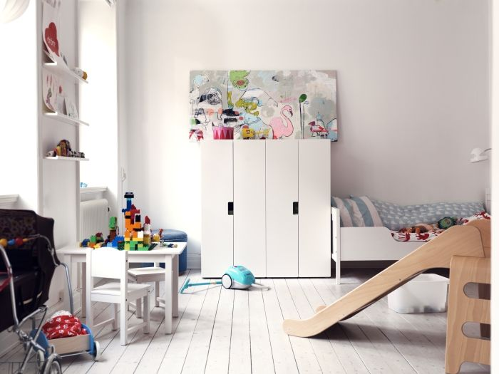 toddler room with STUVA storage system from IKEA