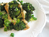 Roasted Broccoli with Miso-Tahini-Tamari Sauce