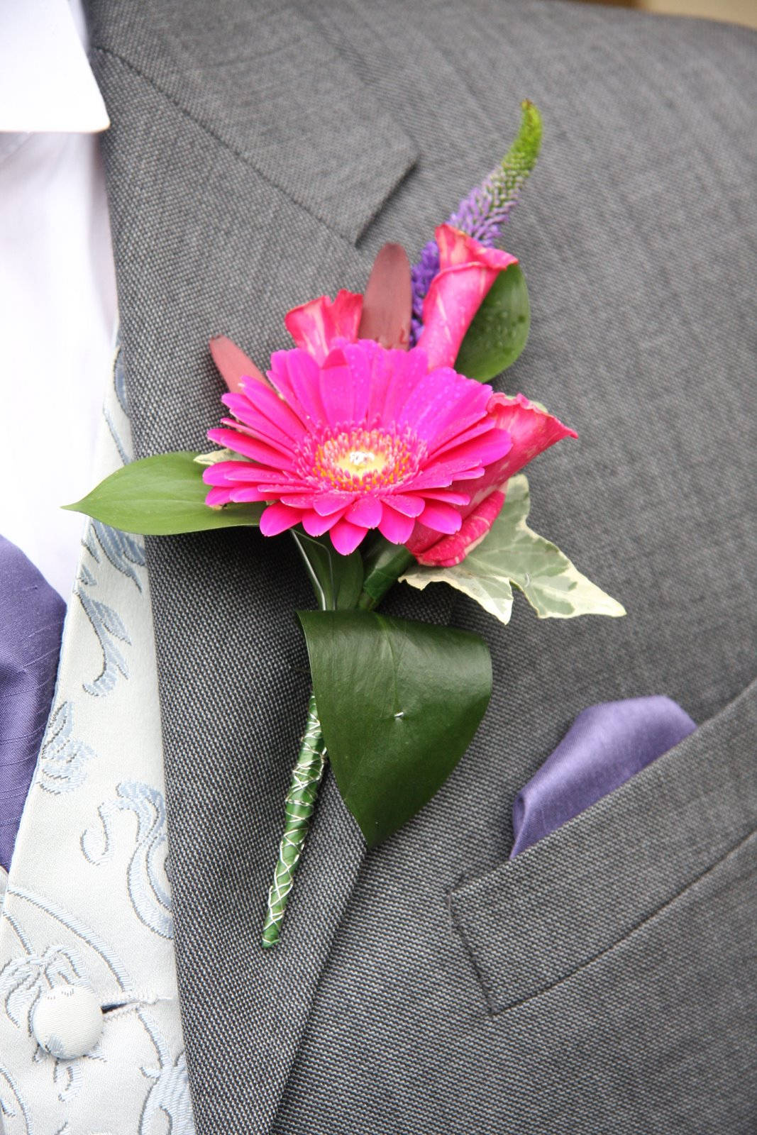 Flower Design Buttonhole Corsage Blog Grooms Special Hot Pink