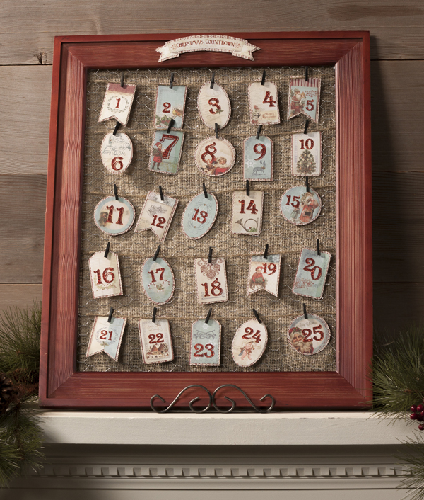 My Minds Eye Barnwood Frame Advent Countdown @craftsavvy @sarahowens #craftwarehouse #advent #calendar #frame #diy
