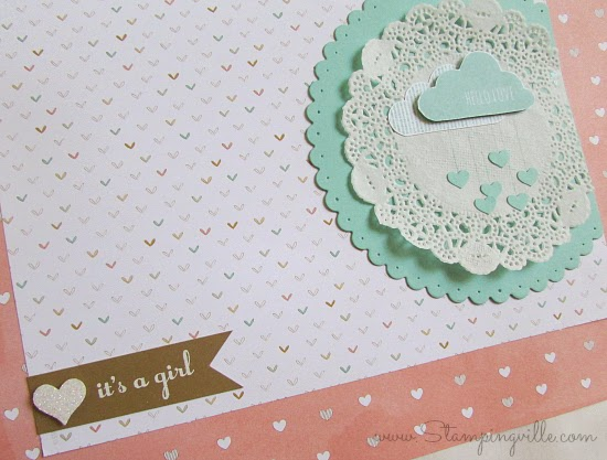 It's a girl! Baby shower keepsake gift bag | Stampingville #papercrafts #babyshower #StampinUp