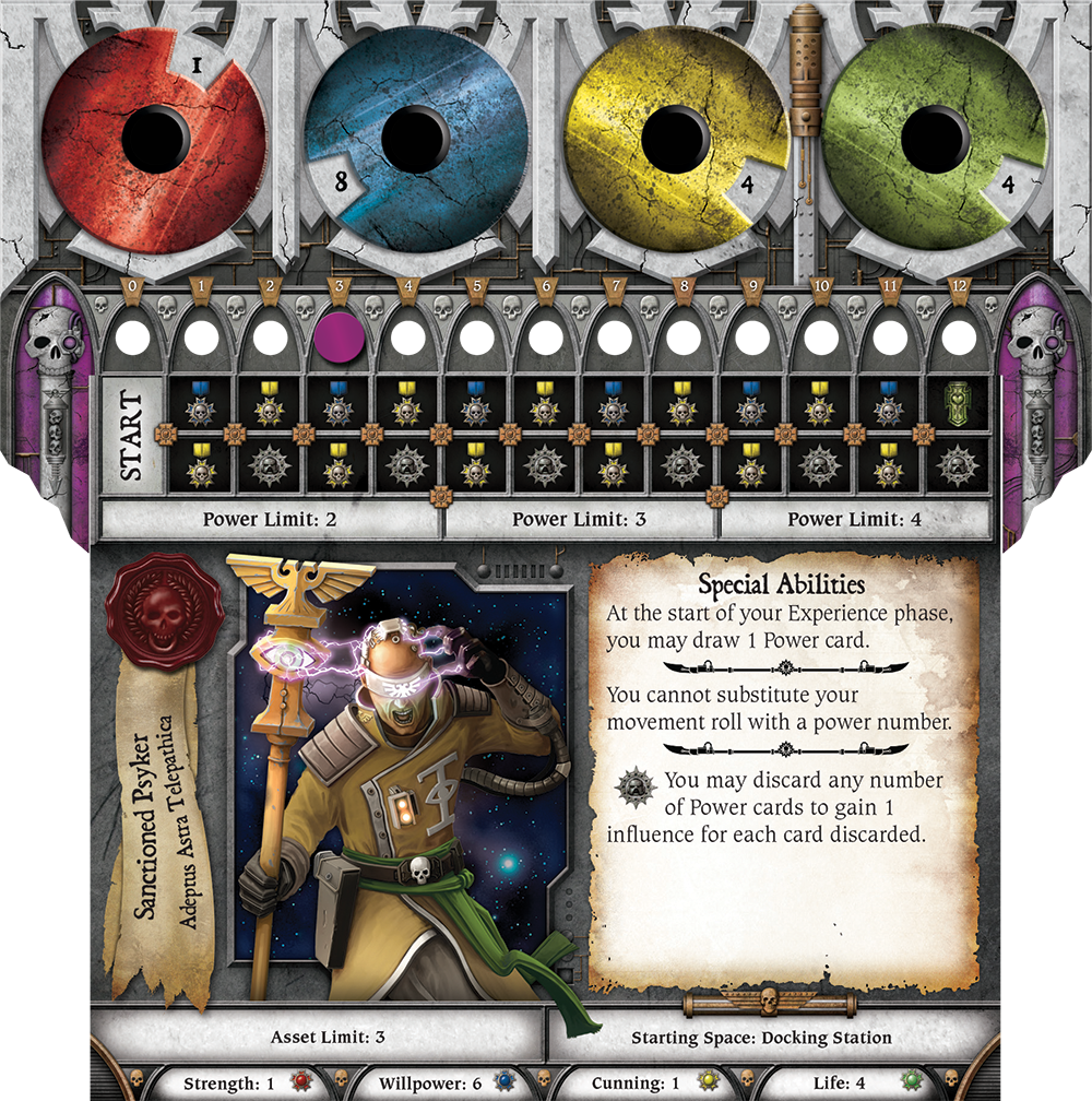 Relic board game psyker player card