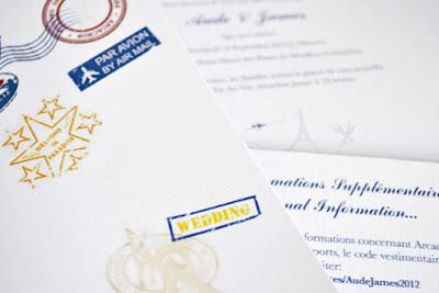 Trave Themed Wedding Invitation
