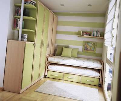 Cool Teen Lime Dorm Room