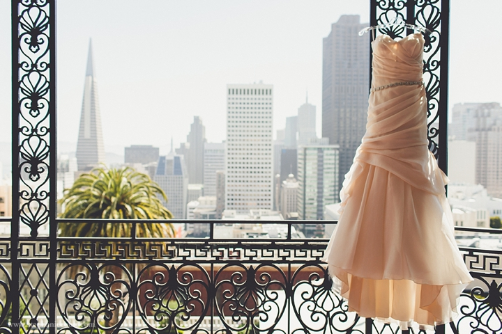 """pink wedding dress in san francisco"""