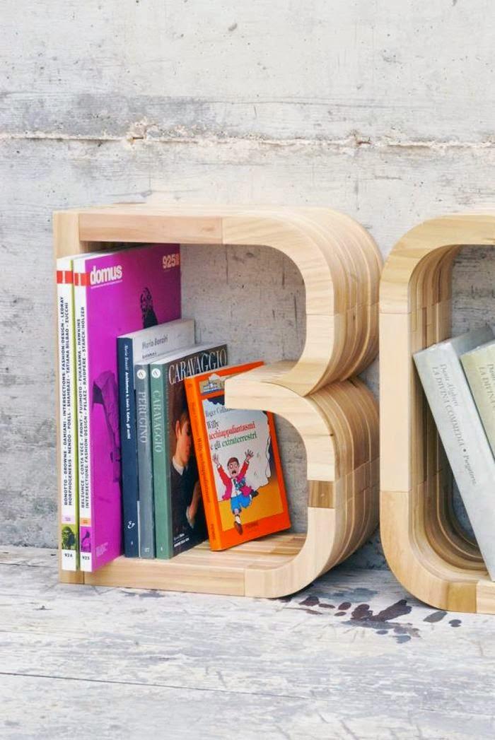 DIY Letter Bookshelves 700 x 1047