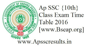 Ap ssc time table