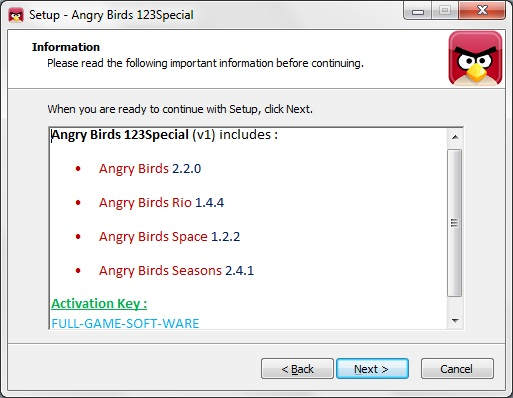 angry birds rio 1.2.2 activation key for pc