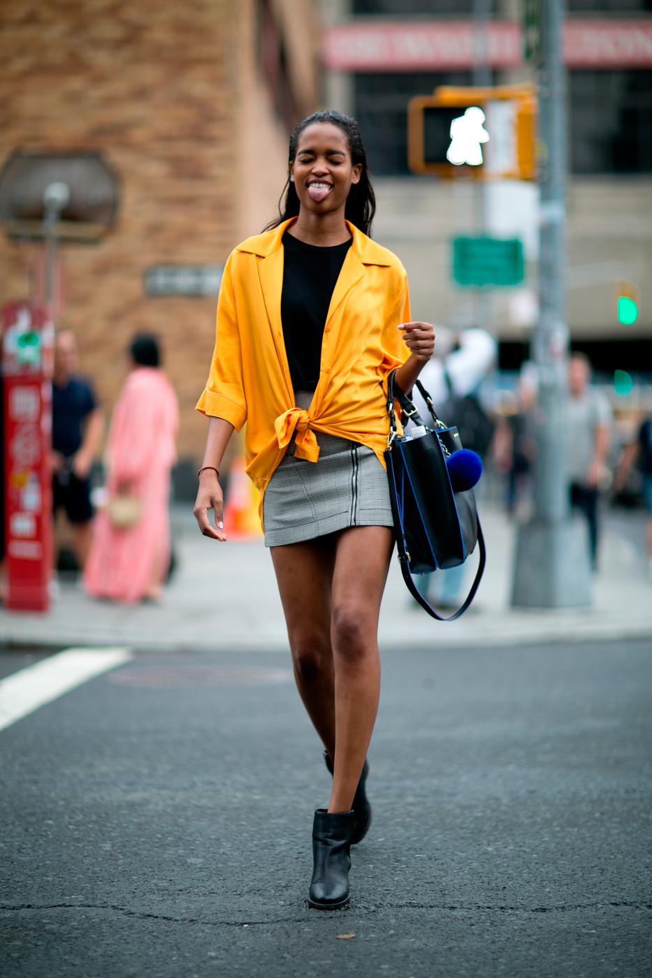 New York Fashion Week Model Street Style Spring/Summer ...