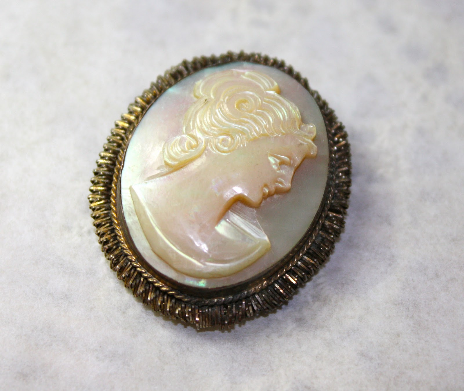A Mother Of Pearl Cameo's Beautiful!