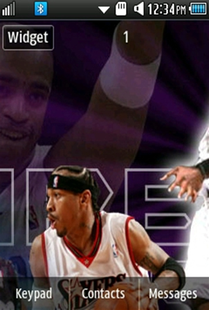 Sports Allen Iverson Samsung Corby 2 Theme Wallpaper