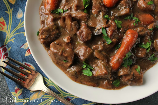 Slow Cooker Beef Burgundy (Low-FODMAP)  |  Delicious as it Looks