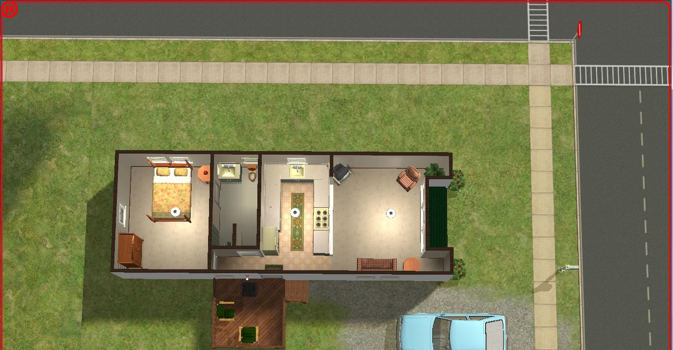 Sims 2 lot downloads starter trailer for 1 bed 1 bath mobile homes