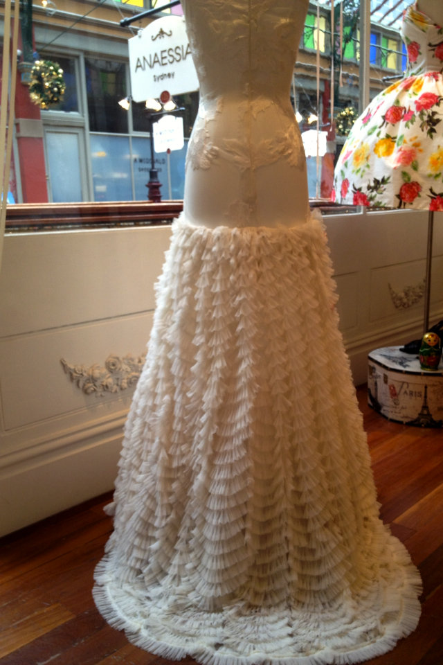 Anaessia Ivory Fantail Floral Wedding Dress