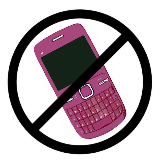 fancy mobile phone banned visual representation