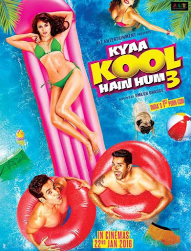 Poster Of Bollywood Movie Watch Online Kyaa Kool Hain Hum 3 300MB DVDScr Full Movie Free Download