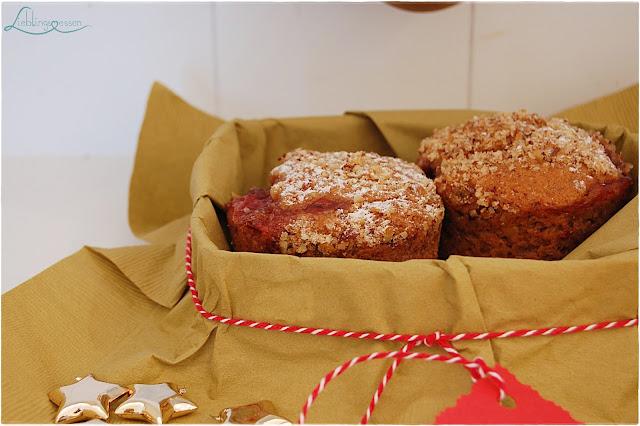 Lebkuchen Preiselbeer Muffins