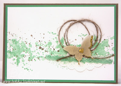 Gorgeous Grunge Butterfly Card and how to make thread / cord in any colour