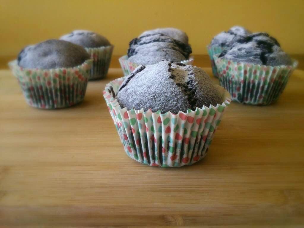Kakaolu Yaban Mersinli Muffin