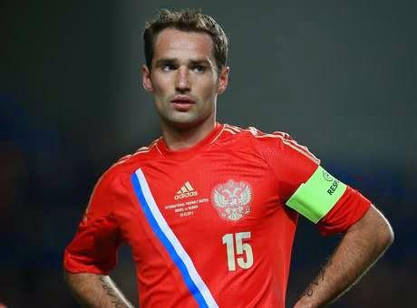 Roman Shirokov, capitão da seleção Russa, enfrenta problemas no tendão de Aquiles e não jogará o Mundial da copa.