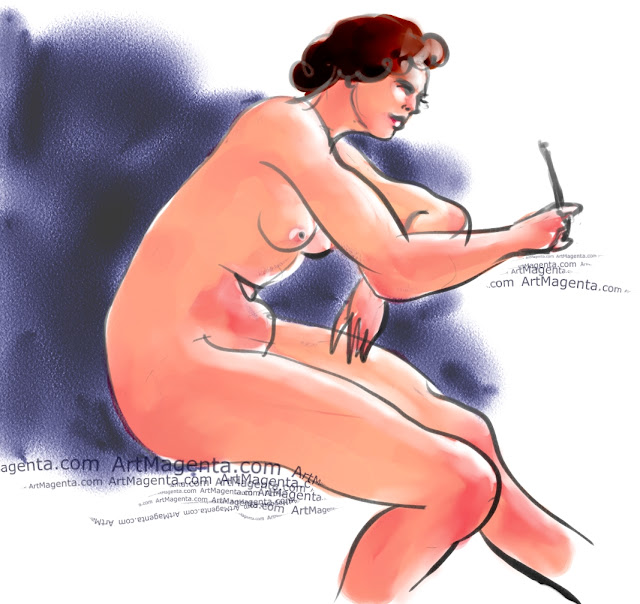 A figure drawing, sketched by artist and illustrator ArtMagenta.
