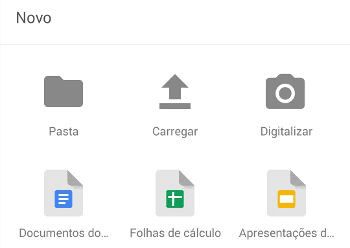 como escanear um documento google drive