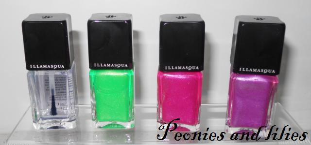 Illamasqua UV glow nail varnish, Illamasqua paranormal, Illamasqua geist nail varnish