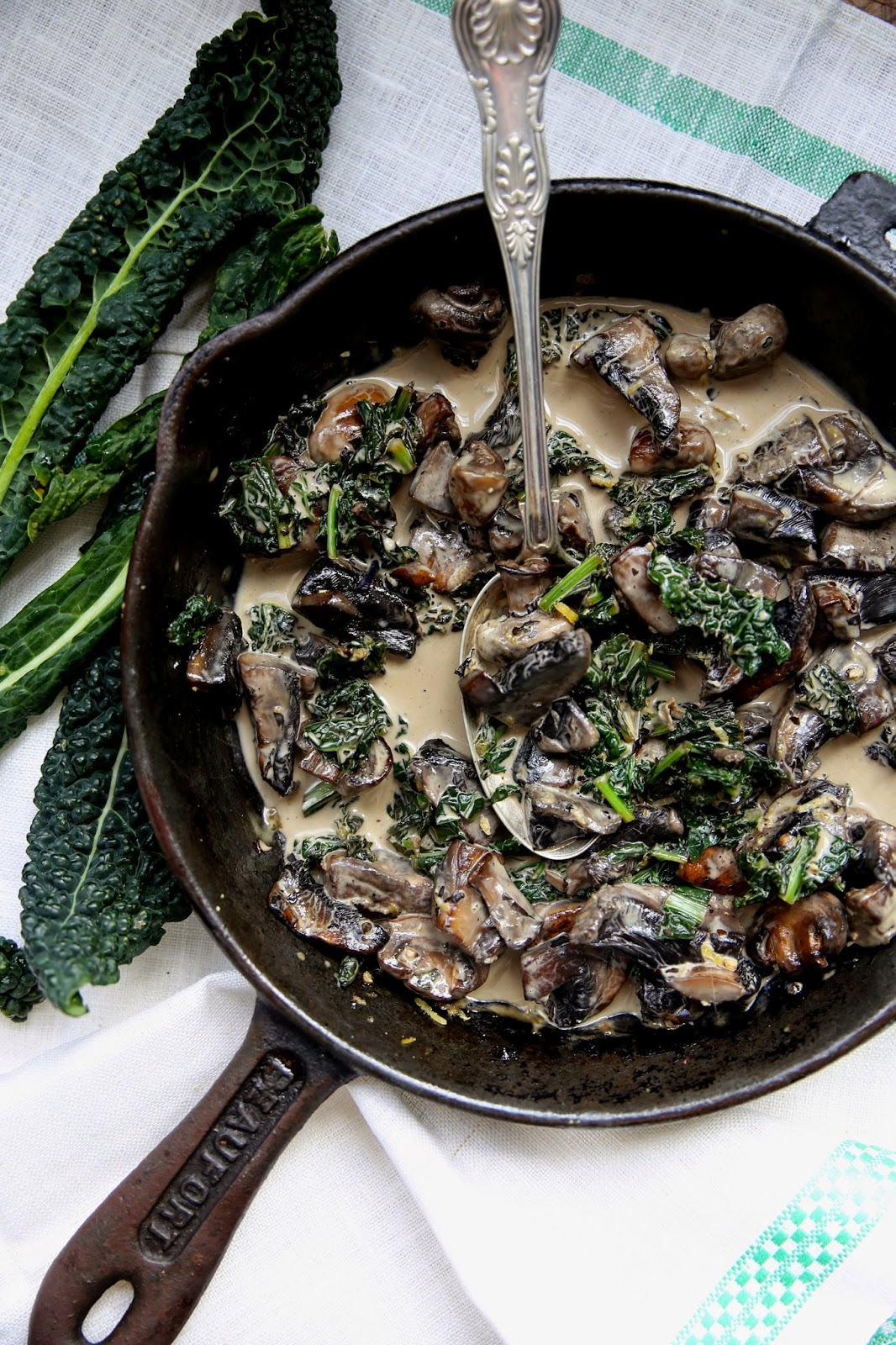 Charred Mushrooms With Black Pepper And Cream