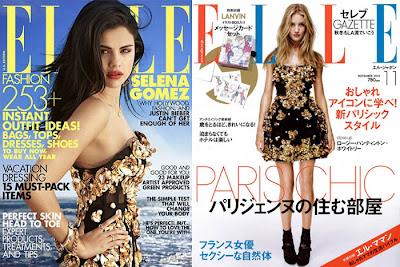 VENTOS BARROCOS_Elle_Selena Gomez na capa da revista Elle_Vestido dourado Dolce & Gabbana_Vestido estilo barroco