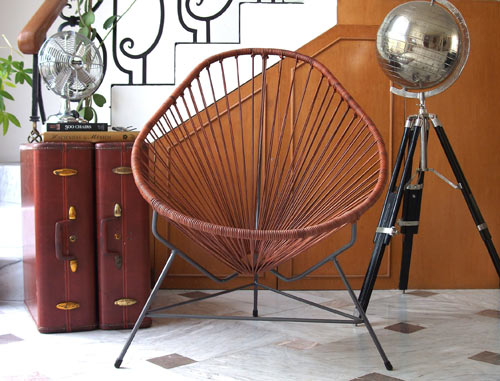 Marvelous Leather Acapulco Chair