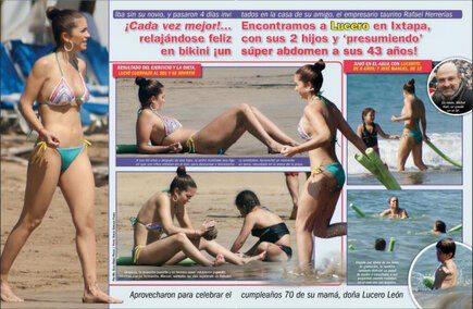 Fotos De Lucero En Bikini Vacaciones Con Su Novio Michel Kuri Picture