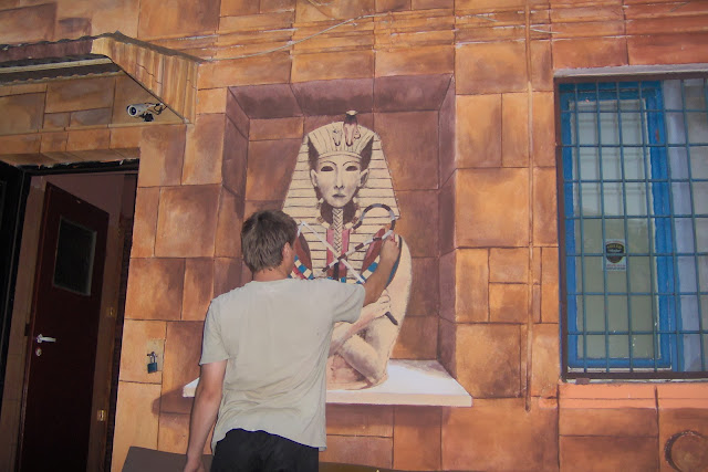 Aranżacja ściany w barze, malarstwo ścienne, Bydgoszcz