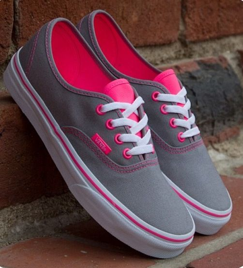 Gorgeous Grey And Pink Vans