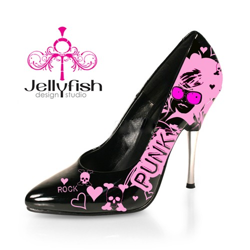 Studio Jellyfish Custom Spiked Flashy High Heels