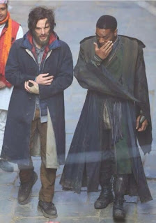 Benedict Cumberbatch as Doctor Stephen Strange and Chiwetel Ejiofor as Baron Mordo