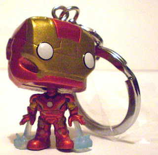 Front of Iron Man Pocket Pop Keychain