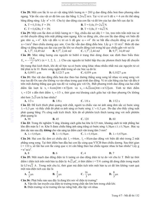 gợi ý giải đề thi đại học môn lý khối a 2013, goi y giai de thi dh mon ly khoi  a nam 2013