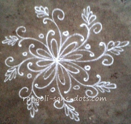 Simple apartment kolam designs kolam by sudha balaji for Dots design apartment 8