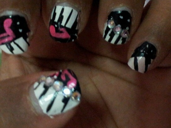 Piano Keys Music Note Nail Art Sugar Spice And Everything Nice