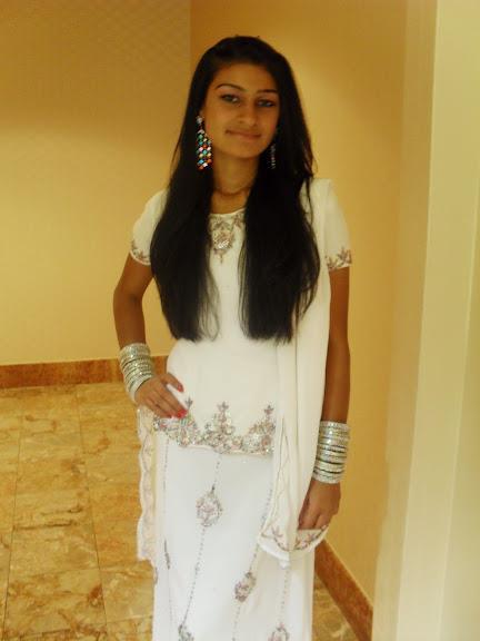 Beautiful angel in white dress