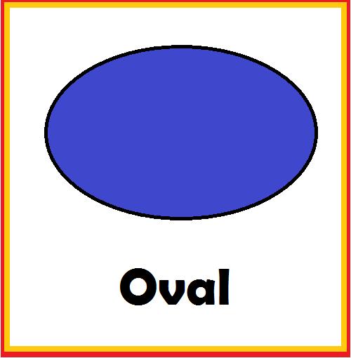 kindergarten worksheets shapes flashcards oval
